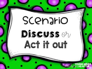 A picture of a template of the character trait scenarios