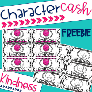 A picture of the cover of the FREE set of character cash for the character trait of kindness