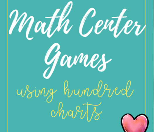 Math Center Games Using Hundred Charts